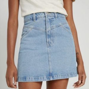 Frank and Oak Denim Mini Skirt